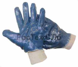 перчатки нитриловые синие резинка