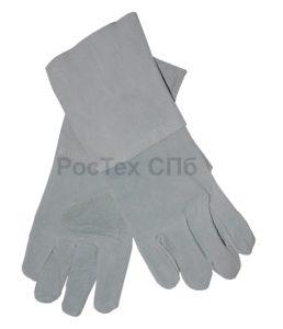 краги спилковые, перчатки краги