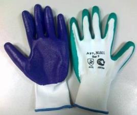 нейлон с нитриловым покрытием перчатки рабочие