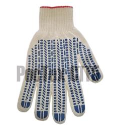 Перчатки хб с пвх 6 нитей 10 кл Экстра 1027