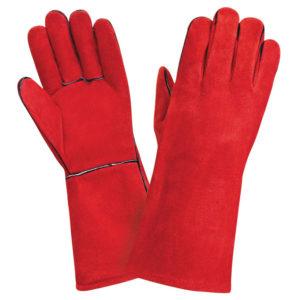Краги спилковые, красные, для сварщика ТРЕК 12