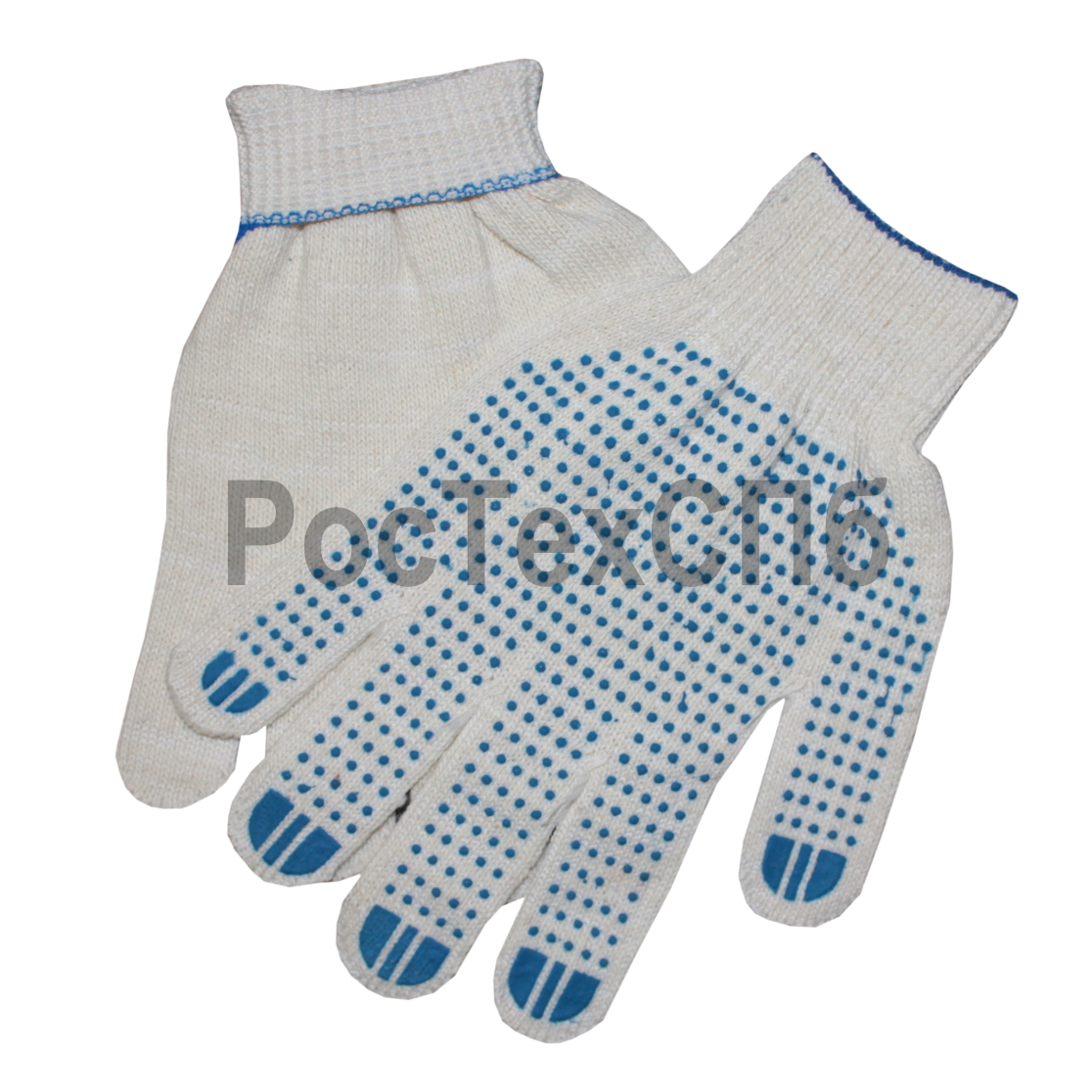 Перчатки хб с пвх 5 нитей 10 кл 1014