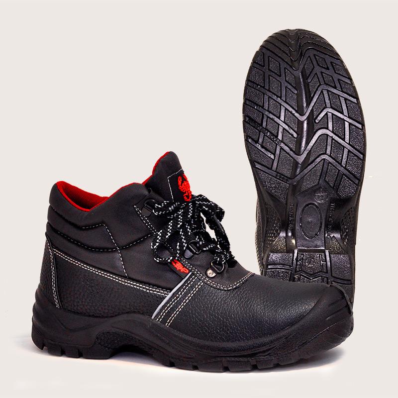 Б3156 Ботинки рабочие кожаные Скорпион, ПУ