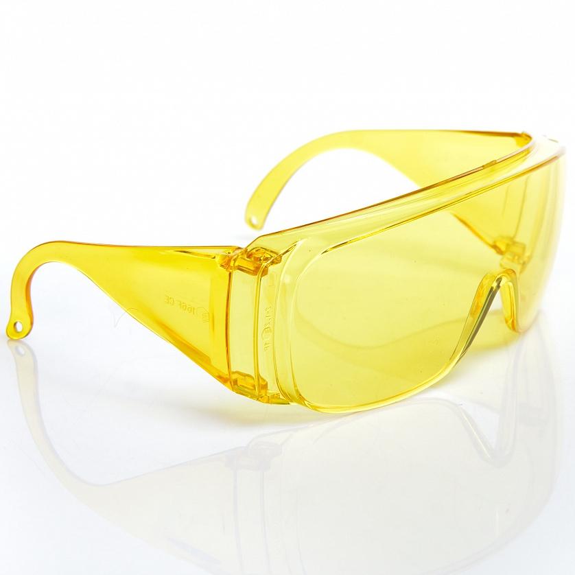 очки с дужками тип люцерна желтые