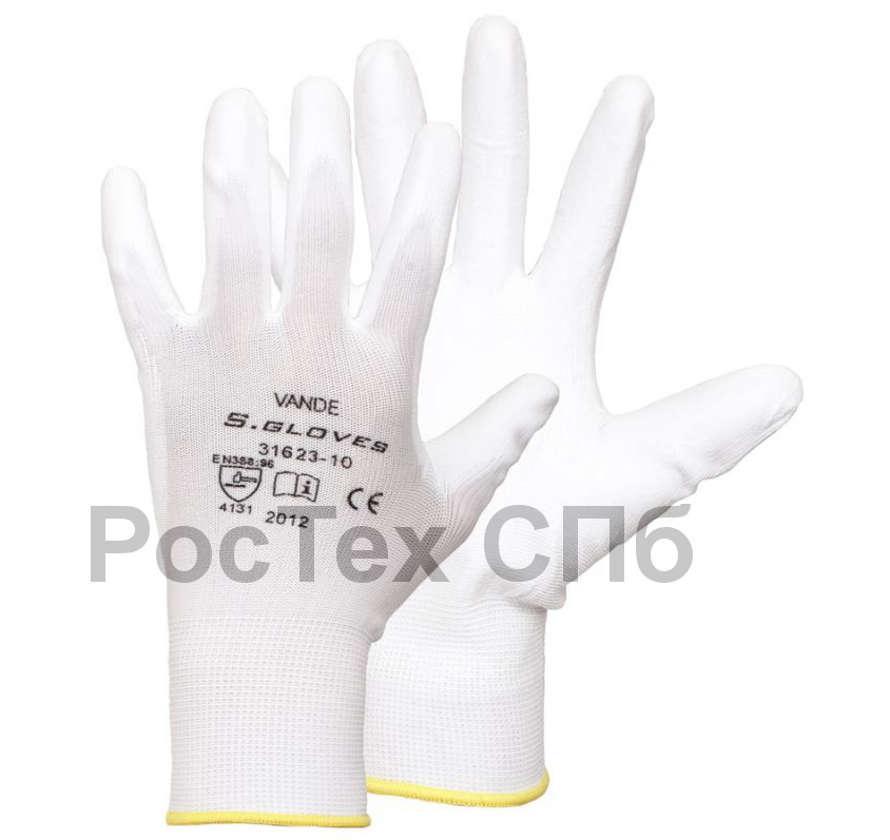 рабочие перчатки с полиуретаном
