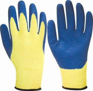 перчатки рабочие облитые латексом