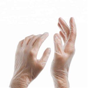 перчатки виниловые одноразовые